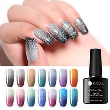 Ur Suiker Temperatuur Kleur Veranderende Gel Nagellak Shiny Rainbow Thermische Glitter Soak Off Uv Gel Lak 7.5 Ml Nail