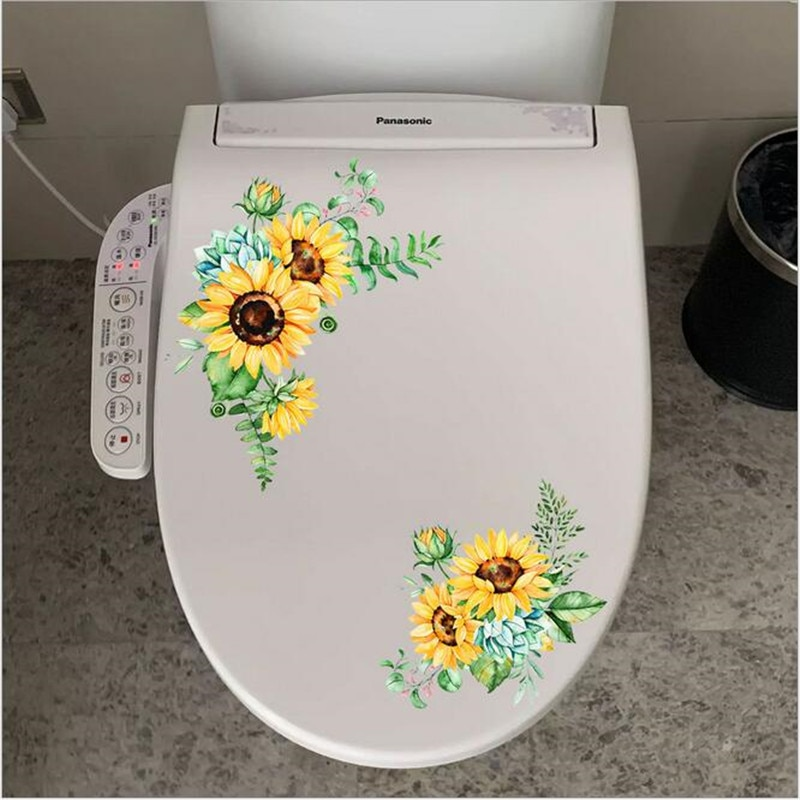 AliExpress - 1PCS Sunflower Rattan Wall Stickers For Door Home Decor Living Room Refrigerator Cabinet Glass Toilet Ornament 30*30CM