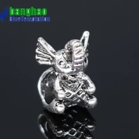 bracelet charms for jewelry supplies making diy pendant charm plata de ley bracelet teardrop accessories beads zab295