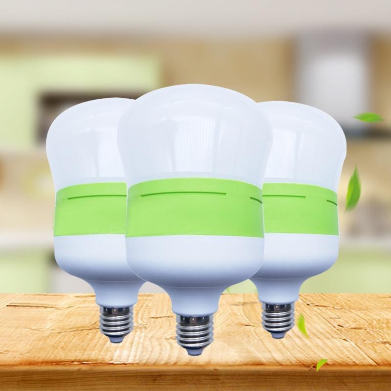 Bombilla LED E27 CA 220V 240V potencia Real 5W 10W 15W 20W 30W 40W luz LED de alto brillo lámpara ahorro de energía