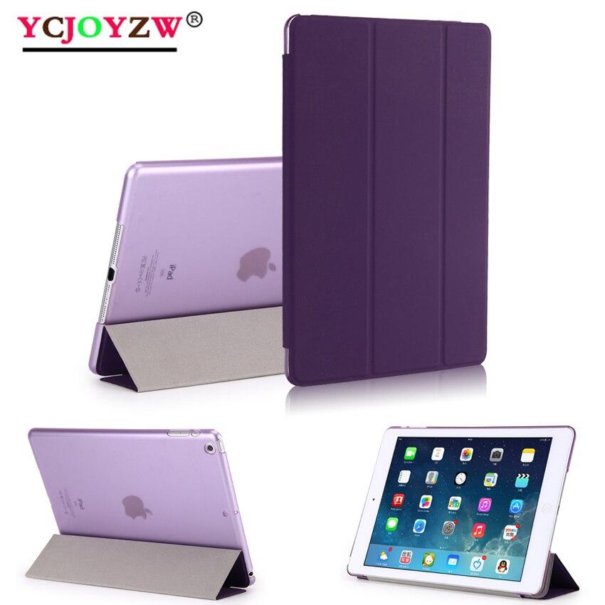 Funda 2020 para iPad 9,7 2017 2018 6th Air 3 2 1 Pro 10,5 mini 1 2 3 4 5 carcasa transparente Smart sleep wake up PU cubierta de cuero