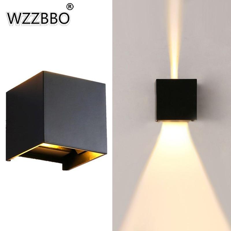 6W/12W LED Waterproof IP65 Wall Light Outdoor Porch Garden Lamp & Indoor Bedroom Bedside Decoration Lighting Aluminum
