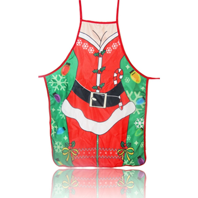 Senyue Christmas Kitchen Aprons for Woman Xmas Decoration for Adults Women Men Dinner Party Cooking Apron Baking Accessories enlarge