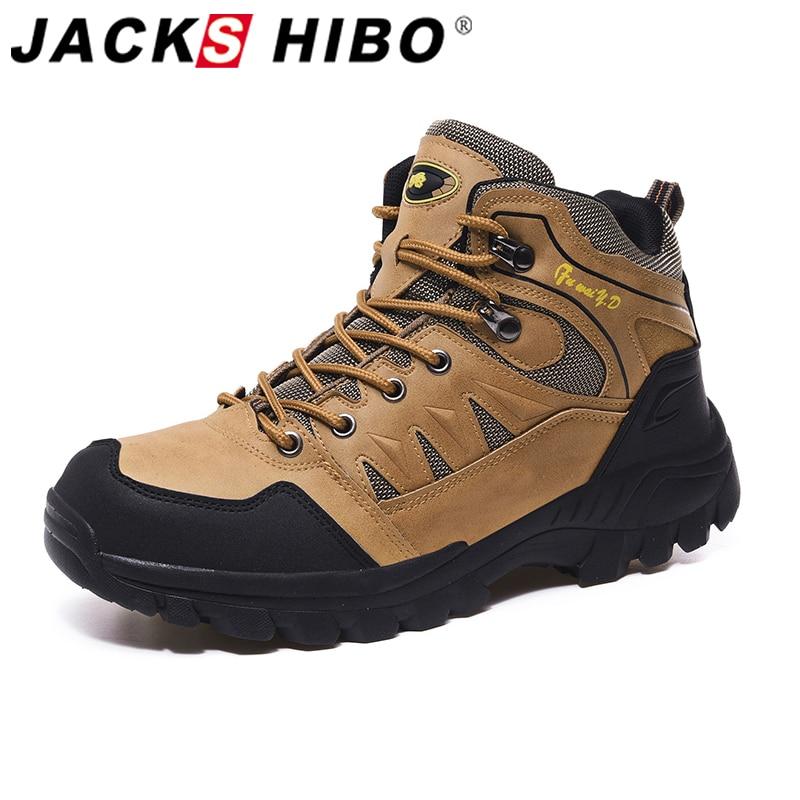 AliExpress - Jackshibo Men's Outdoor Hiking Shoes Mountaineer Climbing Sneakers Waterproof Tactical Hiking Shoes Men Camping Walking Boots