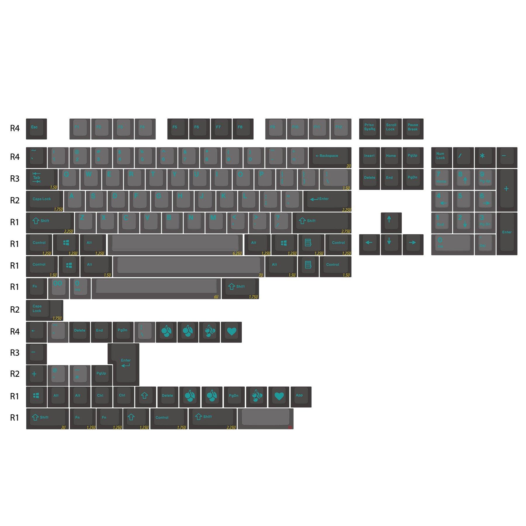 Enjoypbt غطاء مفتاح dolch سماوي 153 مفتاح ABS لونين حقن صب عملية مناسبة لمعظم لوحات المفاتيح الميكانيكية