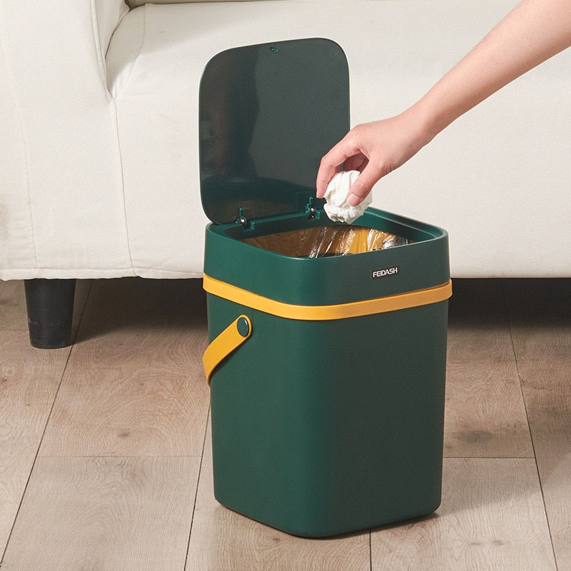 Waterproof Nordic Waste Bin Food Plastic Kitchen Creative Simple Waste Bin Classified Toilet Cubo Basura Home Products DG50WS enlarge