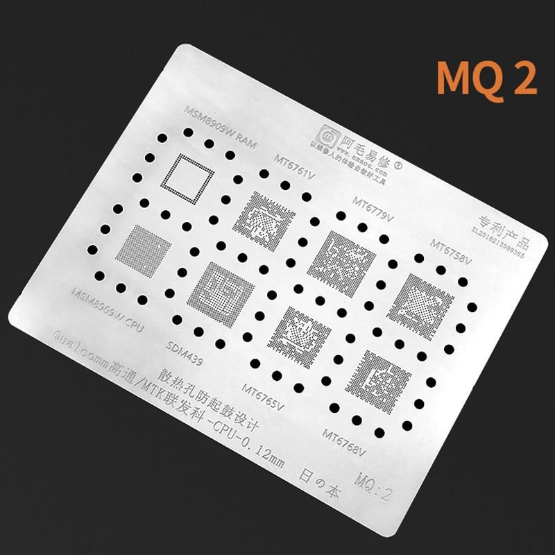 Amaoe MQ2 reparación bga plantilla para Qualcomm MTK cpu MT6779V/6768/6765/SDM439/MSM8909W/CPU