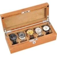 5 slots fashion men home wooden watch box top quality watch organizer watch storage box 200911 29