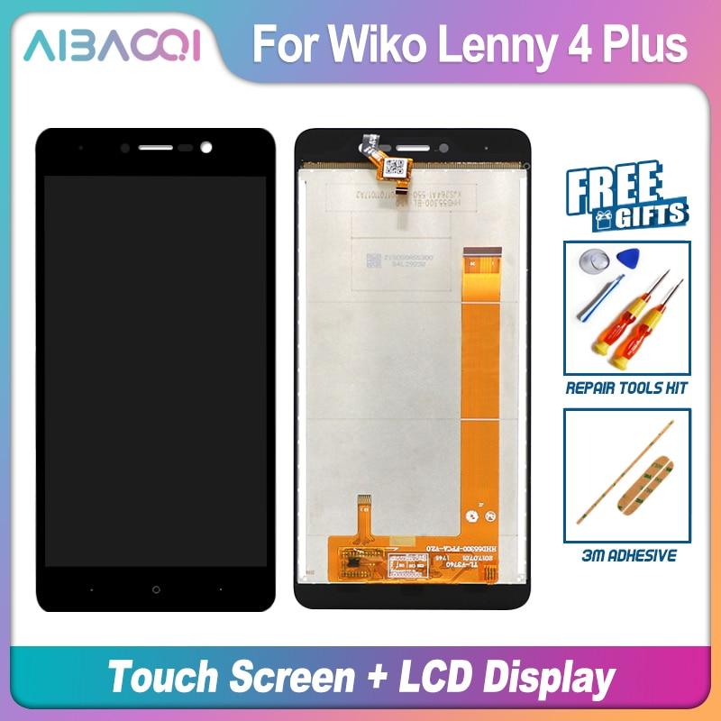 AiBaoQi nueva pantalla táctil Original de 5,5 pulgadas + reemplazo de montaje de pantalla LCD de 1280X720 para teléfono modelo Wiko Lenny 4 Plus
