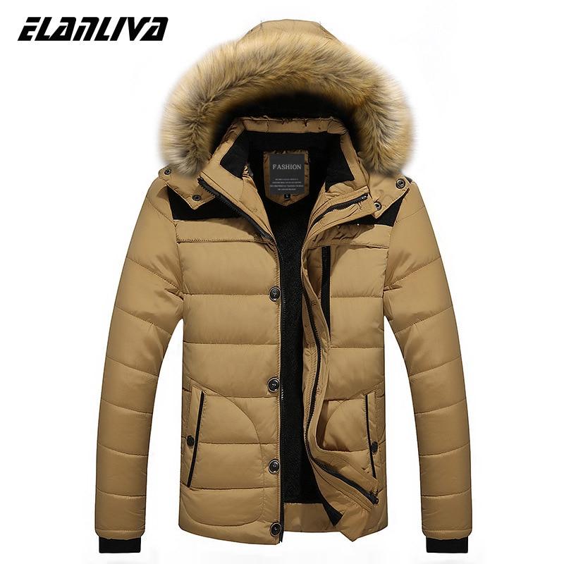 2020 Winter New Mens Thick Coat Casual Overcoats Mens Jackets Parkas Male Outwear Inside Fleece Hooded Coats 6XL