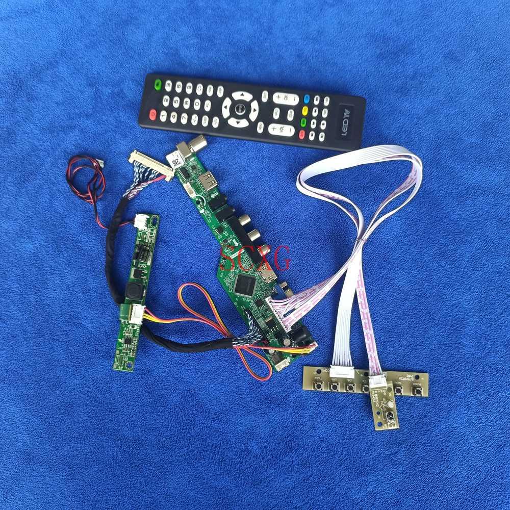 LED/LCD VGA USB AV HDMI-متوافق 1920*1080 التناظرية إشارة مصفوفة تحكم المجلس لتقوم بها بنفسك عدة LVDS 30 دبوس صالح LTM238HL01/LTM238HL02