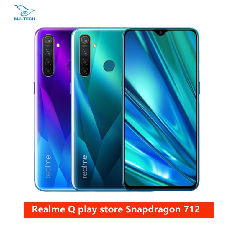 Realme Q 6,3 ''teléfono móvil Snapdragon 712AIE Octa Core 48MP Quad Cámara teléfono móvil OPPO VOOC 20W cargador rápido teléfono móvil