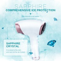 New Tech 9Gears Sapphire ICE IPL Hair Removal Device 60W Women Electirc Epilator Laser photoepilator Painless for Whole Body