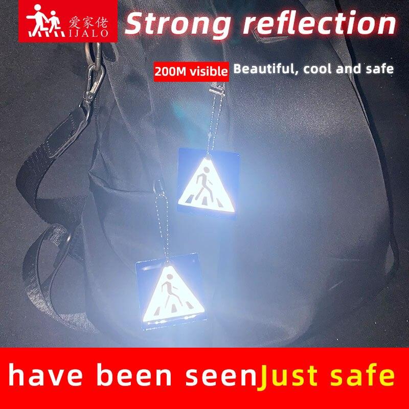 Тротуарные брелоки, светоотражающие брелоки, подвесные аксессуары для сумок для дорожного движения, безопасное использование, Прогулка по...