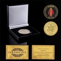 usa army the unit 1st special forces operational airborne gold challenge eagle coins w box display