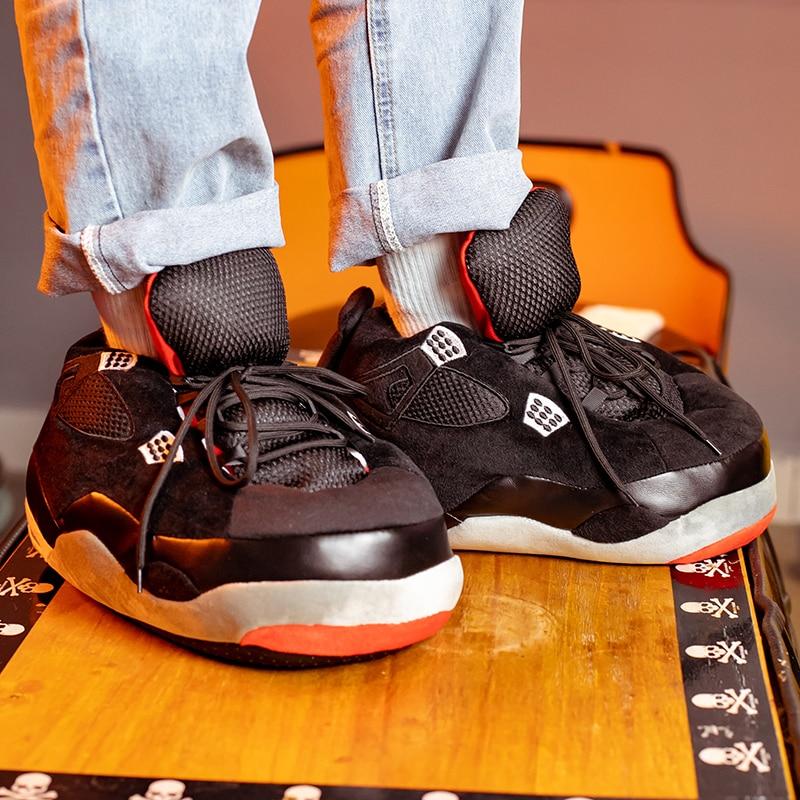 Winter Warm Slippers Women Cute Home Slippers Unisex One Size Sneakers Men House Floor Cotton Shoes Woman EU 35-44 Plush Sliders
