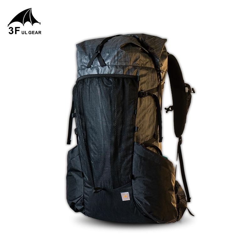 3F UL جير حقيبة الظهر خفيفة الإطار يوي 45 + 10L المشي لمسافات طويلة في الهواء الطلق التخييم خفيفة الوزن السفر الرحلات الظهر الرجال امرأة