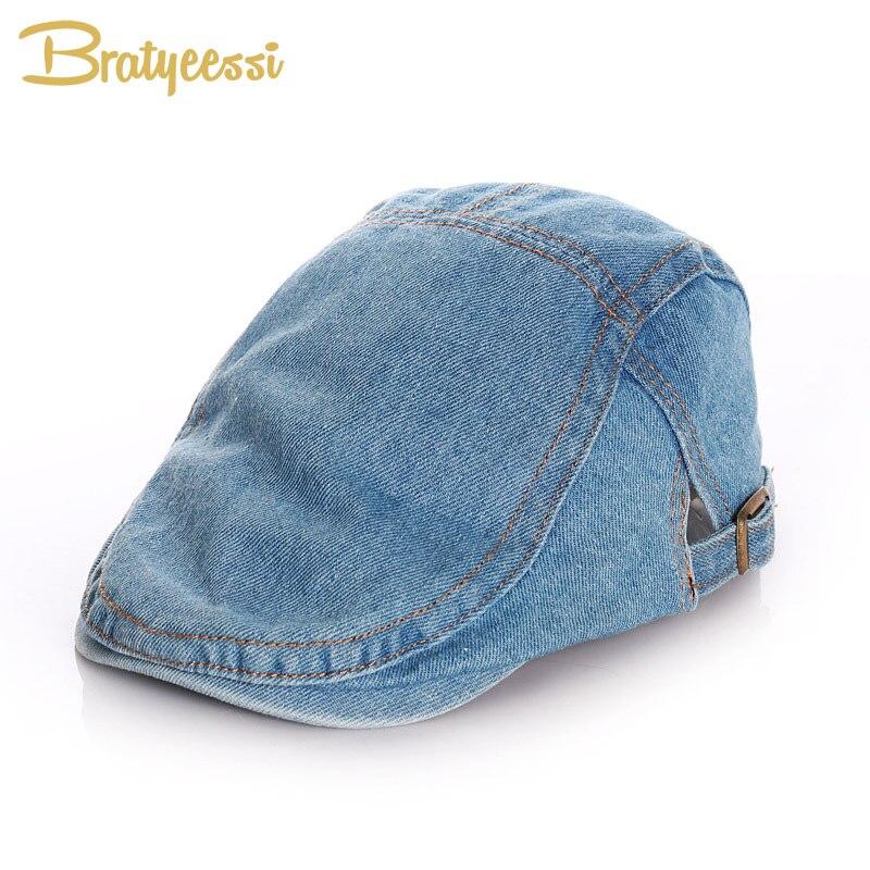 2020 denim crianças chapéu para meninos meninas clássico do vintage ajustável chapéu do bebê outono inverno crianças boina chapéu crianças cowboy boné 2-12y