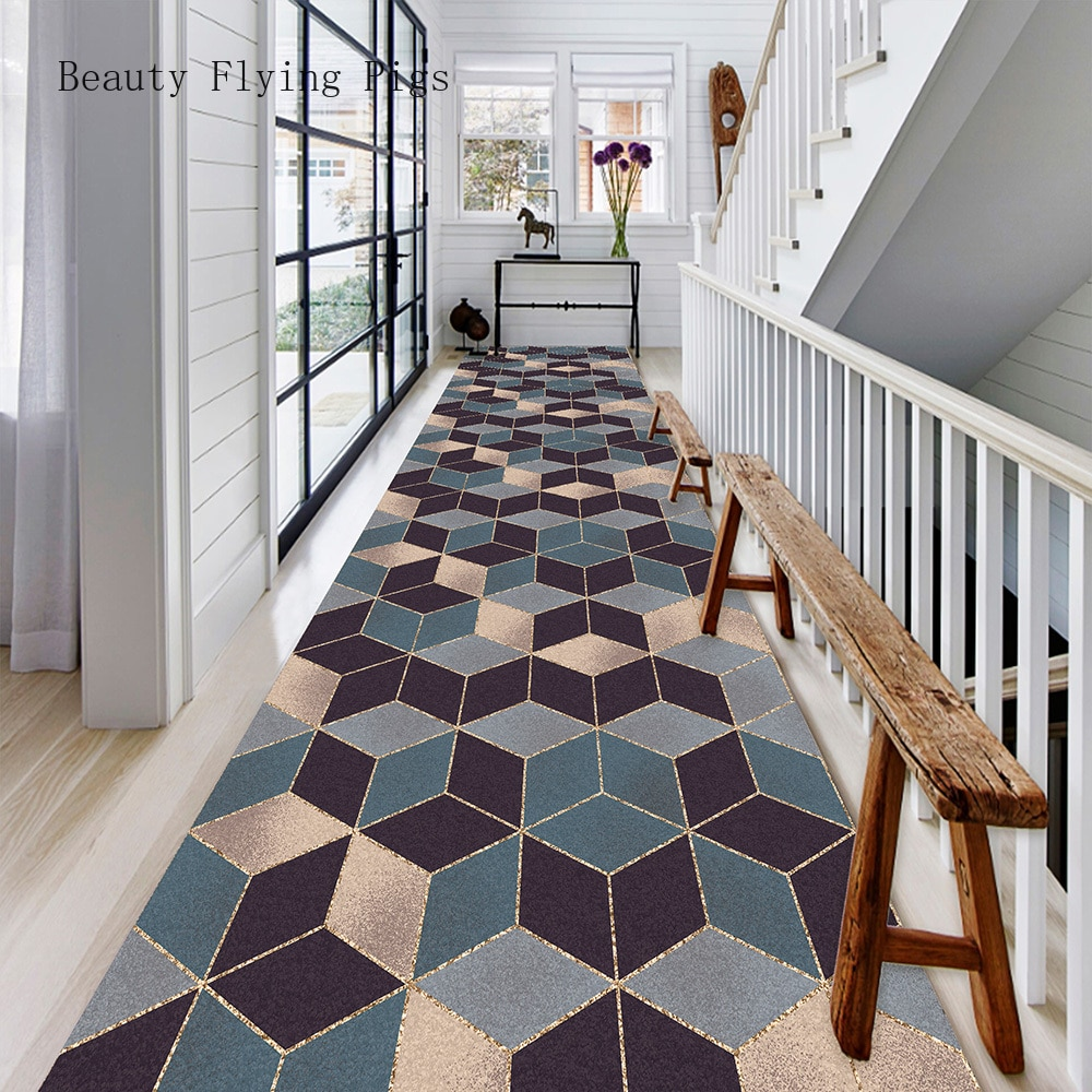 Geometric carpet 3D can be cut mats door entrance door corridor aisle corridor stairs home hotel banquet wedding carpet
