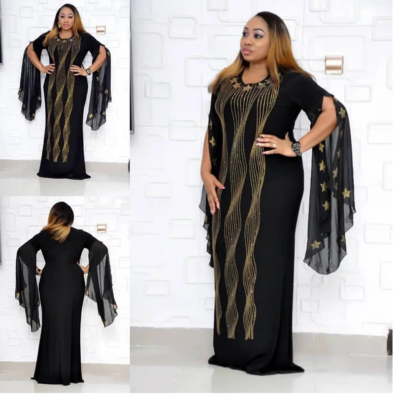 Apertado africano abaya para as mulheres elástico europeu americano diamante boubou robe femme roupas fishtail nova moda dashiki vestido