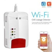 Smart Wifi Gas Sensor Leak Detector Smart Home Security Voice Alarm Tuya Smart Life App Wireless Remote Control