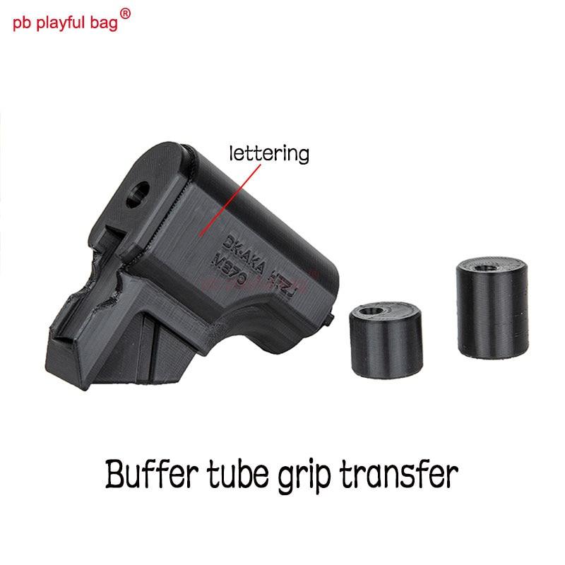 Playful bag Outdoor CS AKA Remington M870 3D printing Transfer for buffer tube grip CS gel ball toy accessory QF11