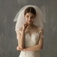 elegant shoulder bridal veil 6 layer soft tulle white wedding veil with crystal beading for bridetravel studio photo props v624