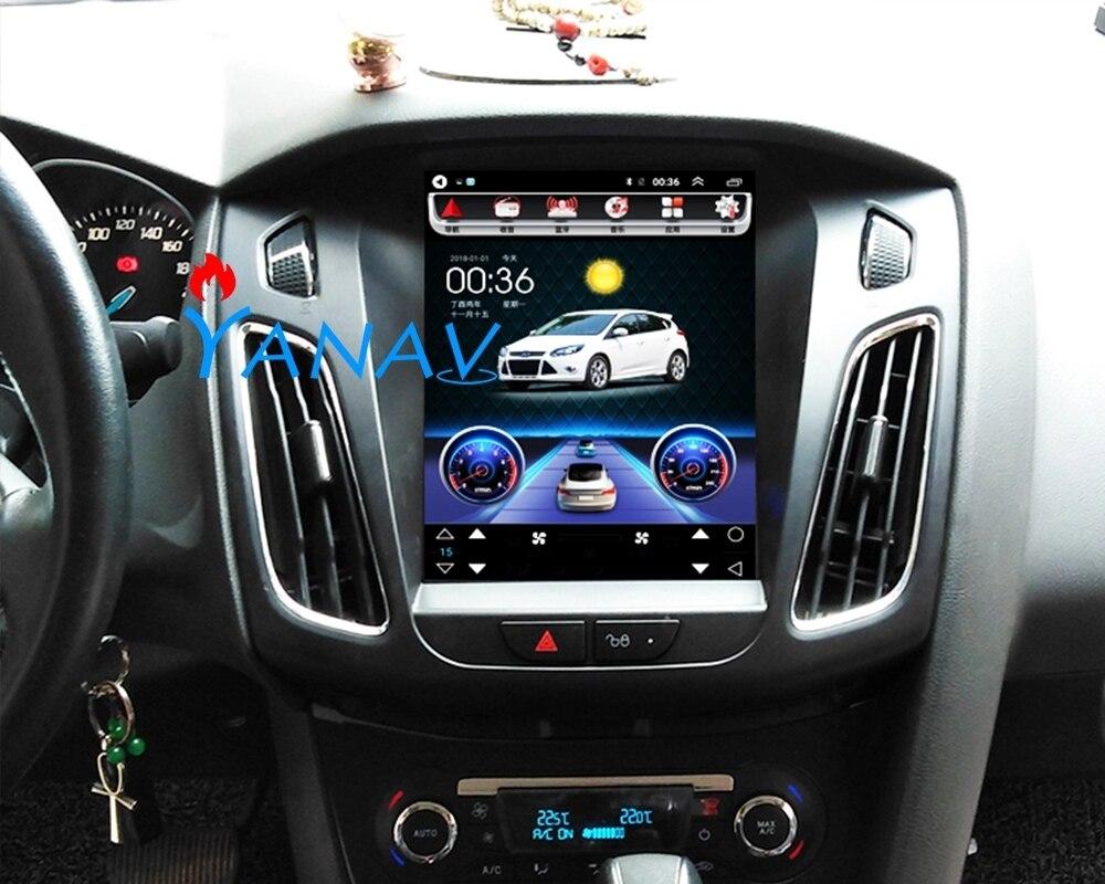 Estilo Tesla Pantalla de 10,4 pulgadas coche reproductor de música estéreo Multimedia reproductor de vídeo para Ford Focus 2012-2016 navegación GPS Headunit