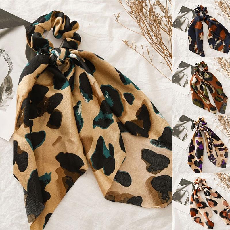 Vintage Women hair ties Scarf  DIY Bow Streamers Hair Scrunchies Ribbon Hair Ties Horsetail Ties Head Wrap Ribbon Hairbands