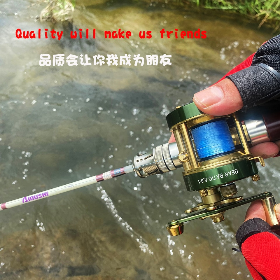 Fiberglass Trout Rod UL Super Soft And Ultra Light 1.40m Four-Section Portable Travel Stream Ejection Rod Wood Hand-mad Fishing enlarge
