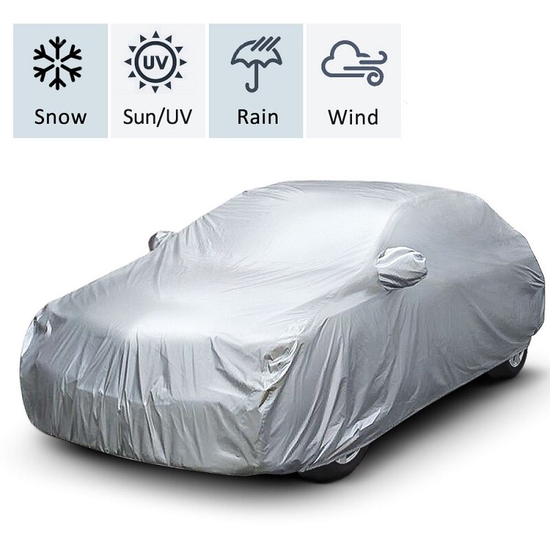 Exterior Car Cover Outdoor Protection Full Car Covers Snow Cover Sunshade Waterproof Dustproof Unive