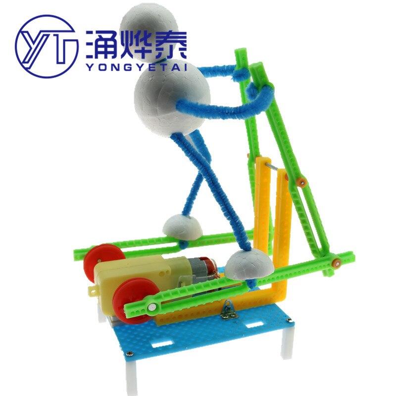 YYT, robot de fitness para correr, máquina elíptica eléctrica, juguete educativo ensamblado, modelo sin batería