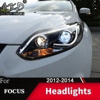 head lamp for car ford focus 2012 2014 focus 3 headlights fog lights day running light drl h7 led bi xenon bulb car accessory
