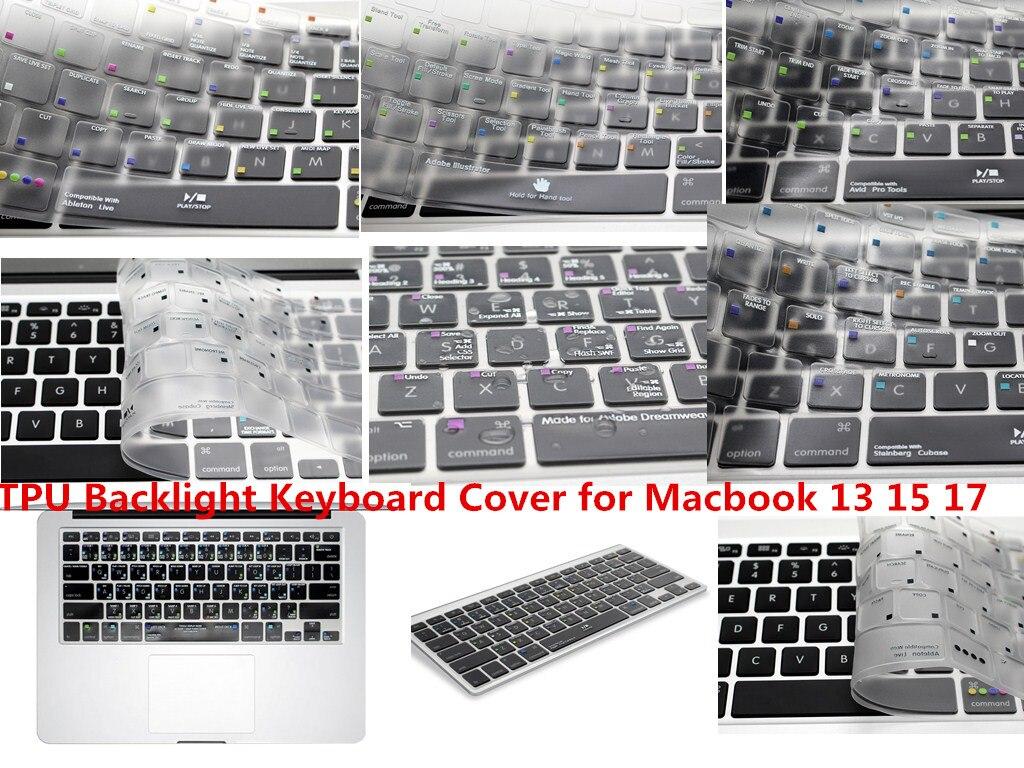 HRH-Teclado retroiluminado de TPU para Macbook Pro Air 13 15 17, teclado...