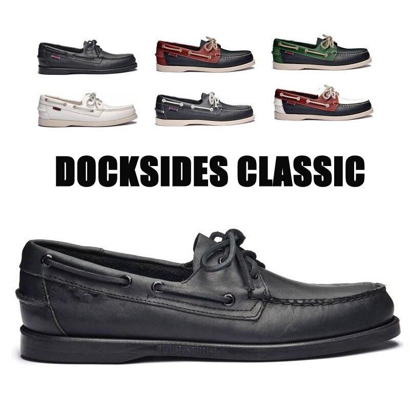 Männer Echtes Leder Driving Schuhe, Homme Femme Docksides Classic Boat Schuh, marke Design Wohnungen Halbschuhe Für Männer Frauen 2019A003
