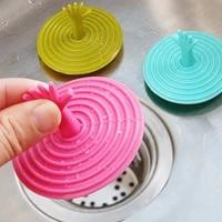 Protecteur de lavabo  bouchon de vidange  couvercle de cuisine  salle de bain  douche  bouchon devier au sol  attrape-cheveux