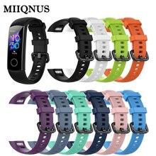 MIIQNUS Neue Kommende Klassische Silikon Handgelenk Band Smart Armband Ersatz Uhr Band für Huawei Honor Band 5 4 Sport Armband