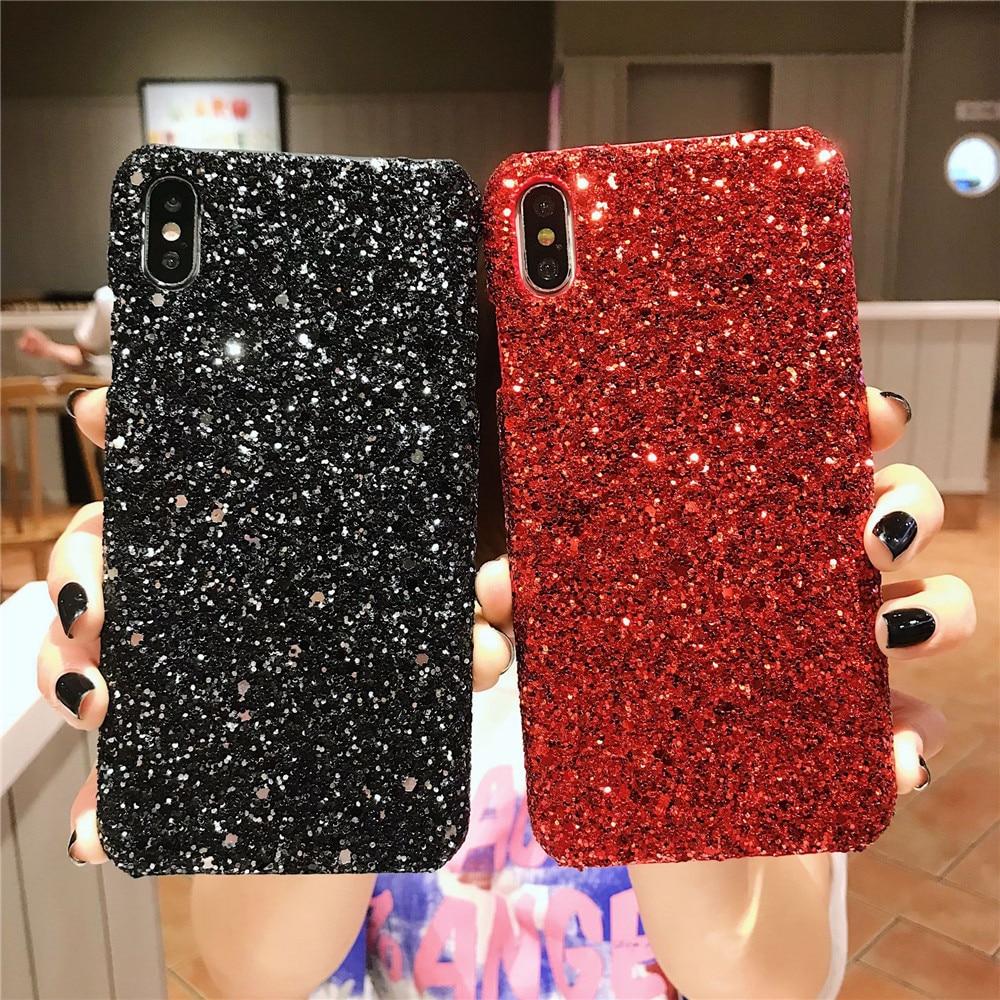 Funda de teléfono de lentejuelas brillantes y brillantes para Samsung Galaxy S9 Plus S10e, funda A50 S10 Plus S8 S7 A6 A8 A7 2018 J5 J7 J3 J6 Plus M20