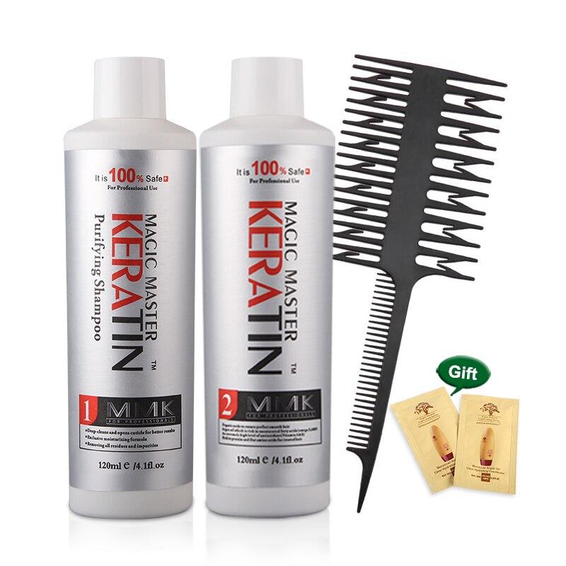 MMK Straightening hair Repair and straighten damage hair products Brazilian keratin treatment + purifying shampoo 11.11