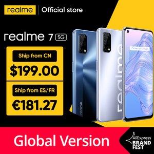 2021 realme 7 5G Dimensity 800U 6/8GB 128GB 120Hz дисплей 48MP Quad Camera 5000mAh большой аккумулятор глобальная Версия 30W Дротика зарядное устройство