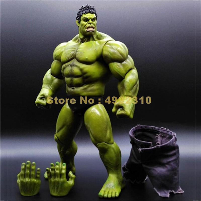 Superhéroes hulk gigante pantalones reales 1/10 escala articulación movible colección de figuras de acción modelo 22cm juguete
