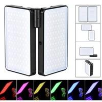 Vijim R316 Foldable RGB LED Video Camera Light Folding 2 Pack Full Color Photograhpy Lighting