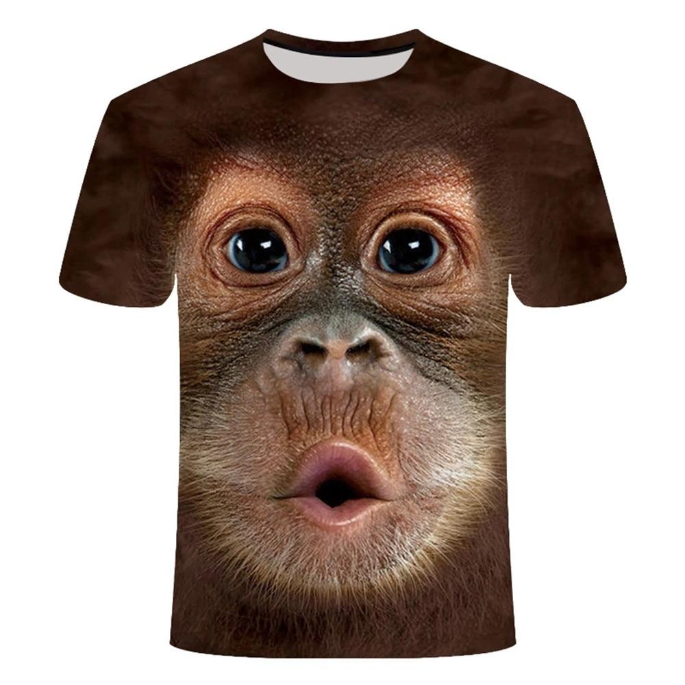 Фото - Summer 2021 latest animal 3D t-shirt monkey men's short-sleeved 3D orangutan t-shirt Harajuku interesting clothes 2021 latest hot sale 3d cartoon print short sleeved t shirt harajuku t shirt 110 xxs 6xl