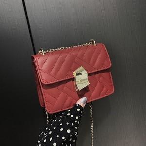 Bag Woman 2019 New  Single Shoulder Bag Fashion   Oblique Span Small Square Bag    Womens Handbags and Purses