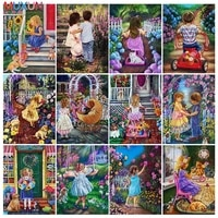 children diamond painting full square flowers home decoration mosaic landscape embroidery rhinestone cross stitch kit needlework