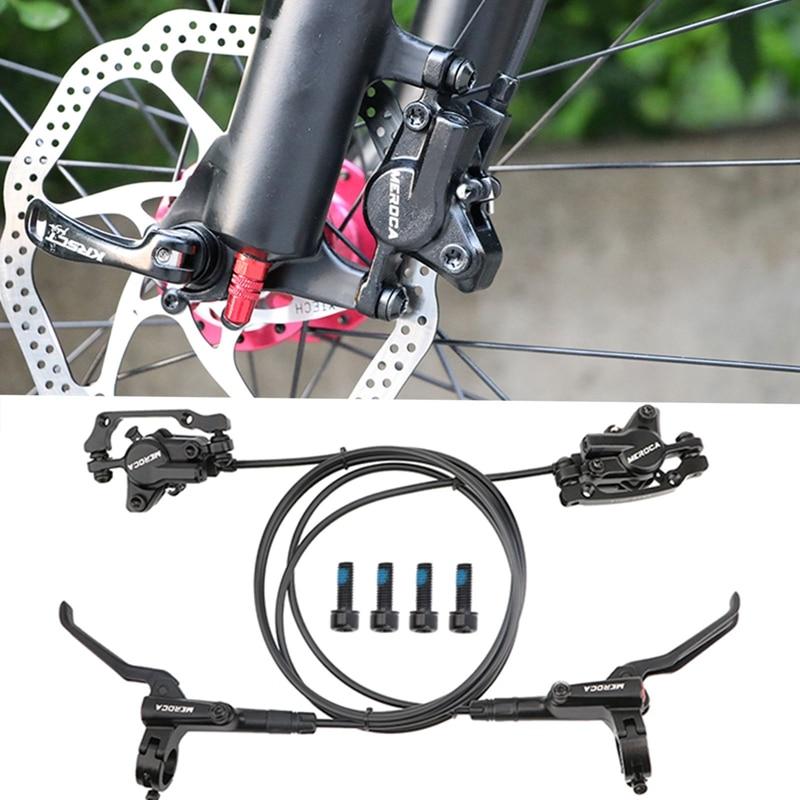 2021 New Mountain Bike Hydraulic Disc Brake Kit 800 / 1400mm Hydraulic Bicycle Front And Rear Hydraulic Brake Kit (black) outrider best seller e bike 48v front disc brake gear motor electric bike kit