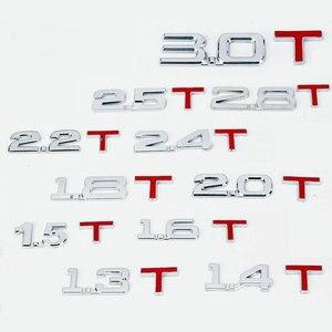 1X car body sticker 2.0T 3.0T 2.5T 2.8T 2.2T 2.4T 1.8T Chromium Styling Engine  Turbo Emblem Sticker number letter sticker