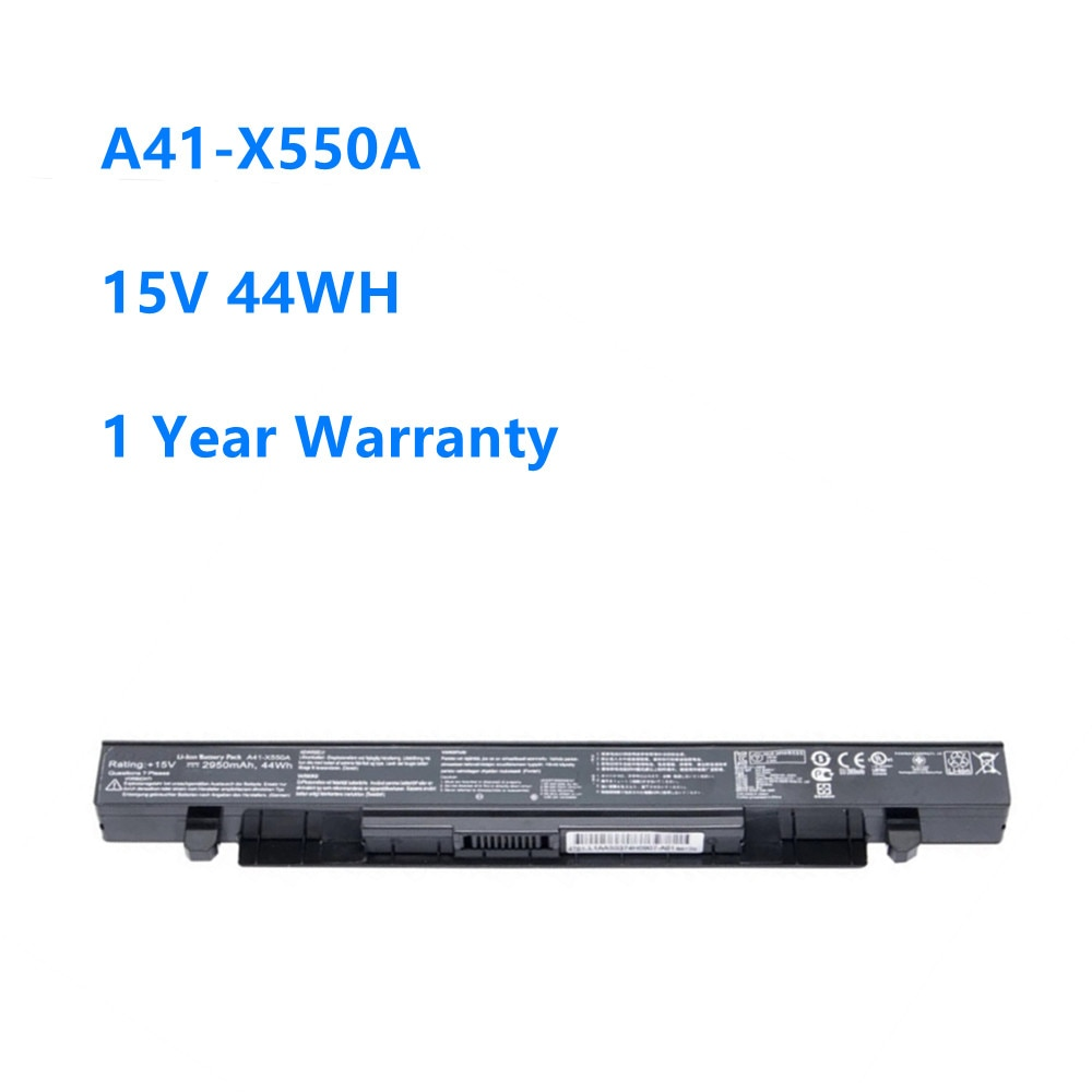 Фото - A41-X550A Laptop Battery for ASUS X450 X550 X550C X550B X550V X550D X450C X550CA A450 Battery A41-X550A 15V 44WH/2950MAH new original laptop replacement li ion battery for asus x450e a450v k550d x751l a41 x550e 15v 44wh