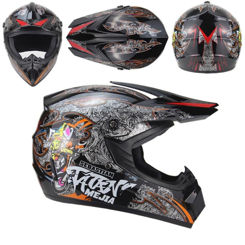 Neuheit Motorrad Erwachsene Motocross Off Road Helm ATV Dirt Bike Downhill MTB DH Racing Helm Kreuz Helm Capacetes Mann