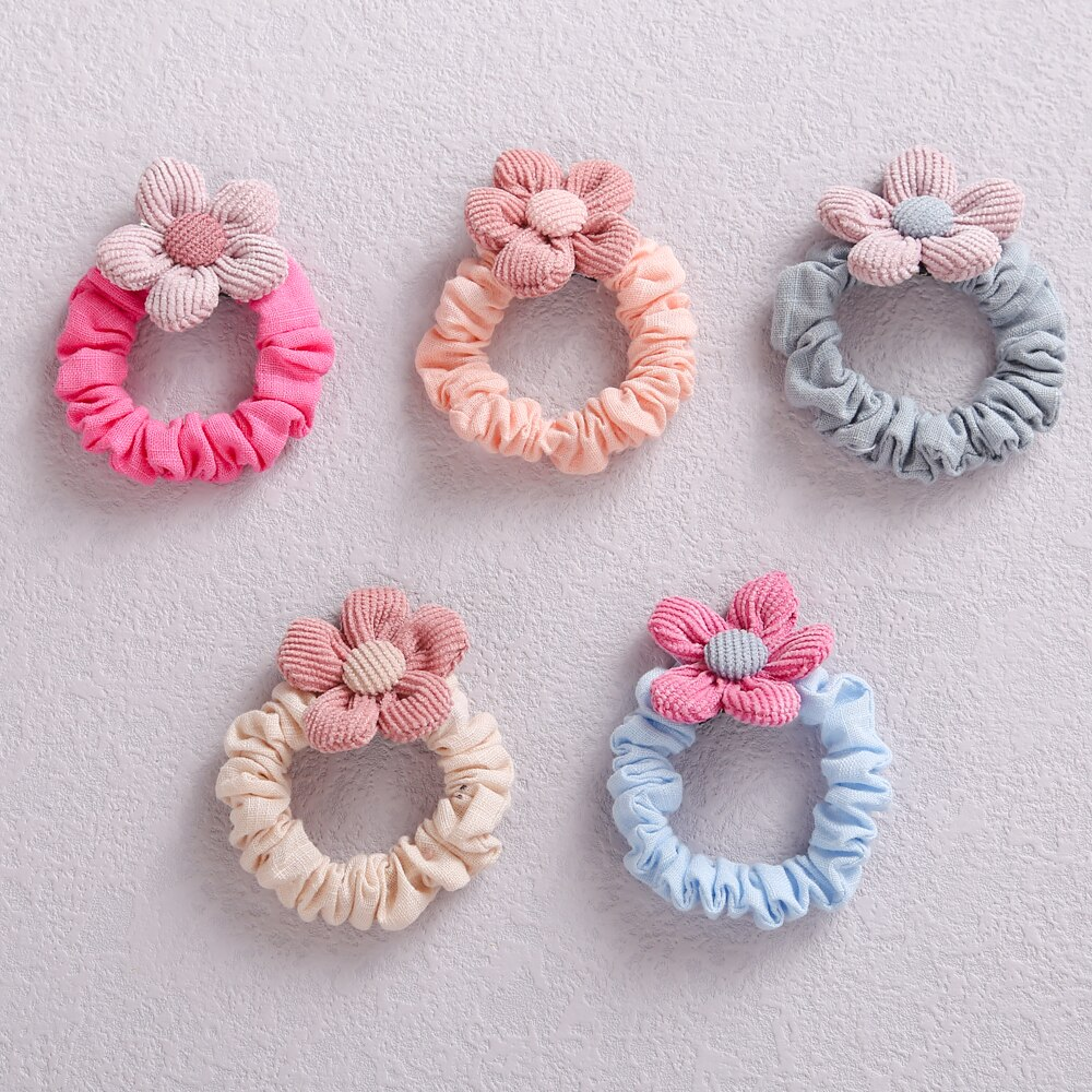 13pcs/Lot Colorful Scrunchies Elastic Hair Bands Baby Girl Fashion Hair Tie Ponytail Holder Girls Headwear Kids Hair Accessories